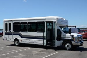The Silver Streak 20-passenger bus